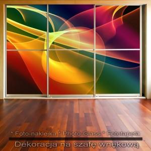 Tęczowiec - dekoracja na szafę