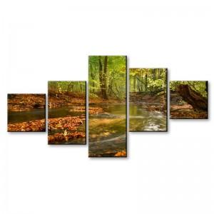 Strumień w lesie - obraz z wielu części nr 2901