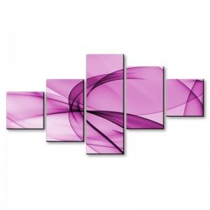 Różowa abstrakcja - obraz z wielu części nr 2905
