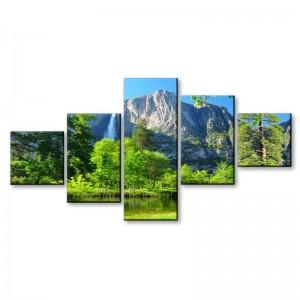 Górska polana - obraz wieloczęściowy nr 2911