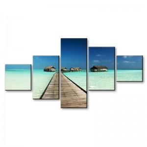 Plaża Malediwy - obraz z wielu części nr 2914