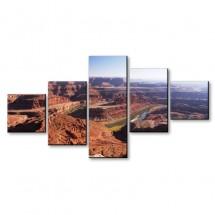 Obraz pięcioczęściowy Kanion