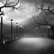 Fototapeta pomost - czarno biała