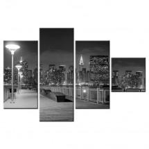 Obraz wieloczęściowy molo New York
