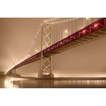 Fototapet most sepia z czerwonym