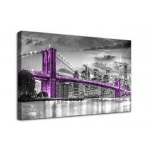 Ozdoba ściany w formie obrazu - fioletowy most