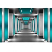 Fototapeta turkusowy tunel