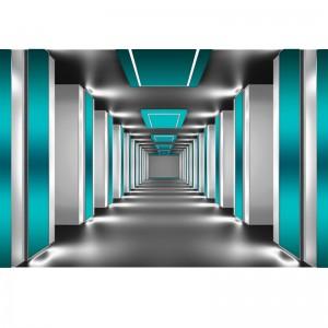 Fototapeta z lazurowym tunelem