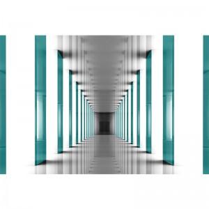 Fototapeta z turkusowym tunelem