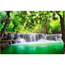 Fototapeta wodospad w lesie