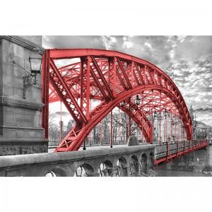 Fototapeta czerwony most