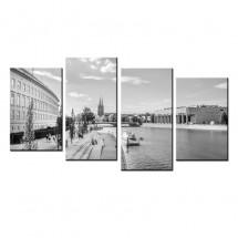Obraz na ścianę Wrocław Bulwar - czarno biały