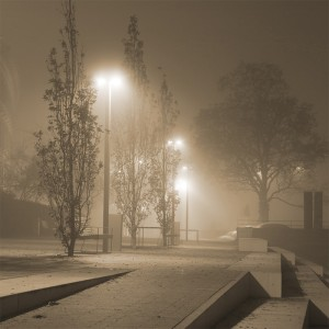 Fototapeta mgła sepia do salonu