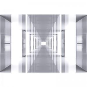 Fototapeta z lustrzanym tunelem