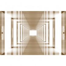 Fototapeta tunel w sepii