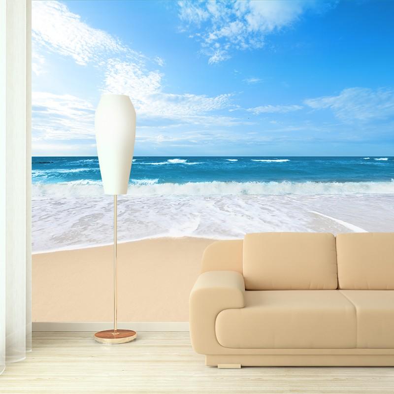 fototapeta morze w salonie | źródło: http://agatonstudio.pl