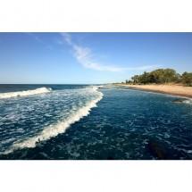 Fototapeta plaża z grzbietu fali