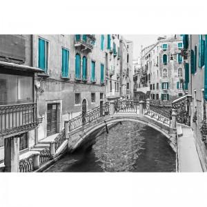 Fototapeta turkusowa uliczka w Wenecji