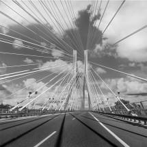 Fototapeta czarno biała most Rędziński