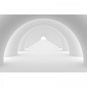 Fototapeta z szarym tunelem 3d