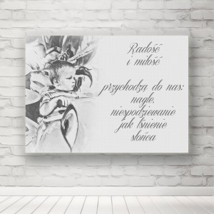 """Plakat """"Radość i Miłość"""""""