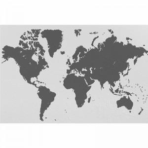 Fototapeta mapa świata czarno biała