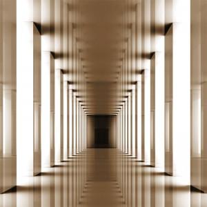 Fototapeta powiększająca pomieszczenie - Tunel w sepii