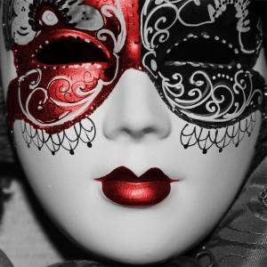 Fototapeta kobieta z maską karnawałową