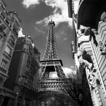 Czarno biała fototapeta wieża Eiffela
