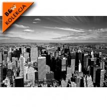 Aranżacja nowoczesnego salonu - fototapeta New York