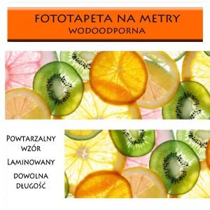 Fototapeta laminowana owoce