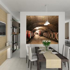 Fototapeta do kuchni z winnicą
