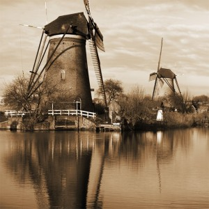 Holenderskie wiatraki