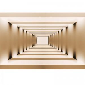 Fototapeta z leżącym tunelem