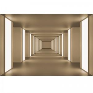 Fototapeta w beżowym tunelu