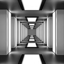 Fototapeta na ścianę tunel - czarno biała