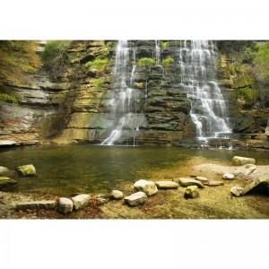 Fototapeta wodospad skały kamienie