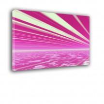 Ozdoba ściany w formie obrazu - różowy horyzont - Abstrakcja nr 2086