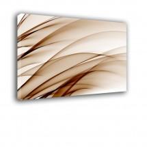 Obraz nowoczesny - brązowe paseczki - Abstrakcja nr 2286