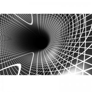 Fototapeta w spiralnym tunelu