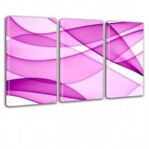 Różowy tryptyk na ścianę - Abstrakcja nr 2621