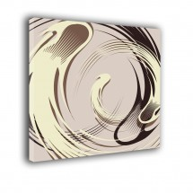 Obraz beżowo, kremowo, brązowy - Abstrakcja nr 2340