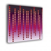 Obraz w stylu nowoczesnym - kolorowe kropki - Abstrakcja nr 2341