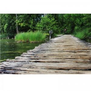 Fototapety drewniana kładka woda