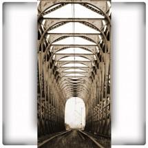 Fototapeta most kolejowy na wąską ścianę