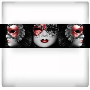 Fototapeta panoramiczna weneckie maski