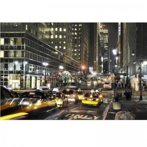 Foto-tapeta z New Yorkiem w nocy