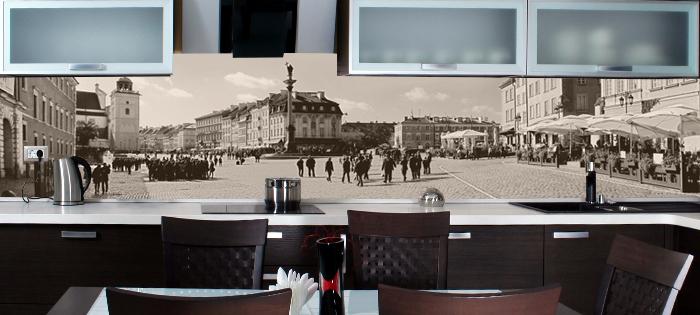 Fototapeta do kuchni Warszawa retro