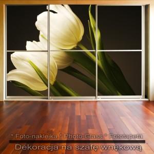 Linia kwiatów - dekoracja na szafę