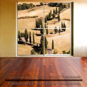 Toskania Włochy - dekoracja na szafę